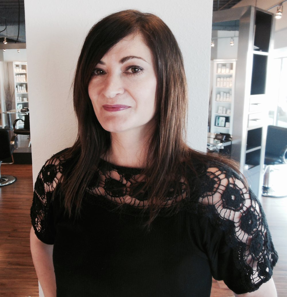 Emily Evans Master Hairstylist • 18 years experience  • Trained at Toni & Guy, in-depth haircutting  • Specializing in precision cuts, men's hair, short & edgy haircuts, long hair, curly hair, & hair straightening