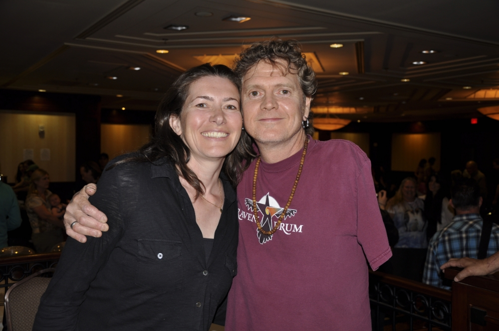 Rick Allen and author Michaela Haas