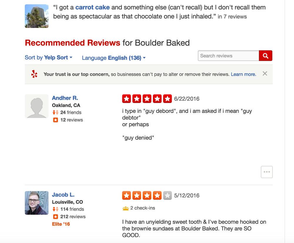 boulder baked, 5 stars