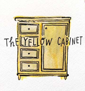 the yellow cabinet