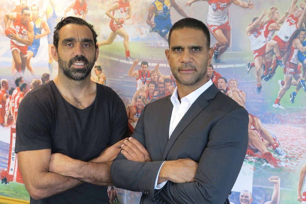Adam Goodes and Michael O'Loughlin