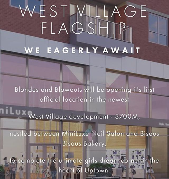 Eager is an understatement! Only 60 days to go until Blondes and Blowouts opens its first official location! #blondesandblowouts #westvillage #3700M #uptowndallas #dallasblondesalon  #dallasdrybar