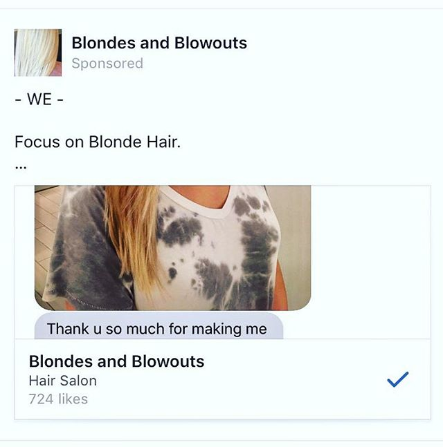Like B&B on facebook! ✌️😍www.facebook.com/blondesandblowouts