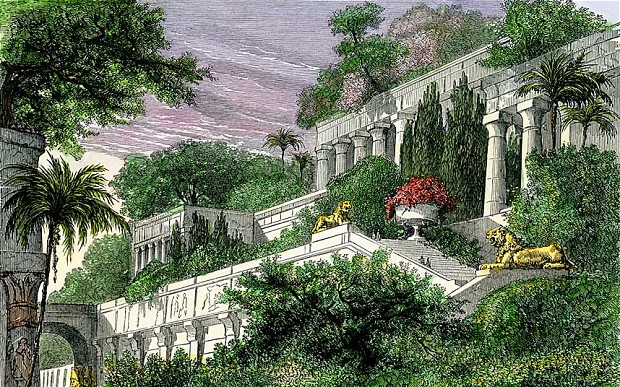 hanging gardens of Babylon- photo Alamy
