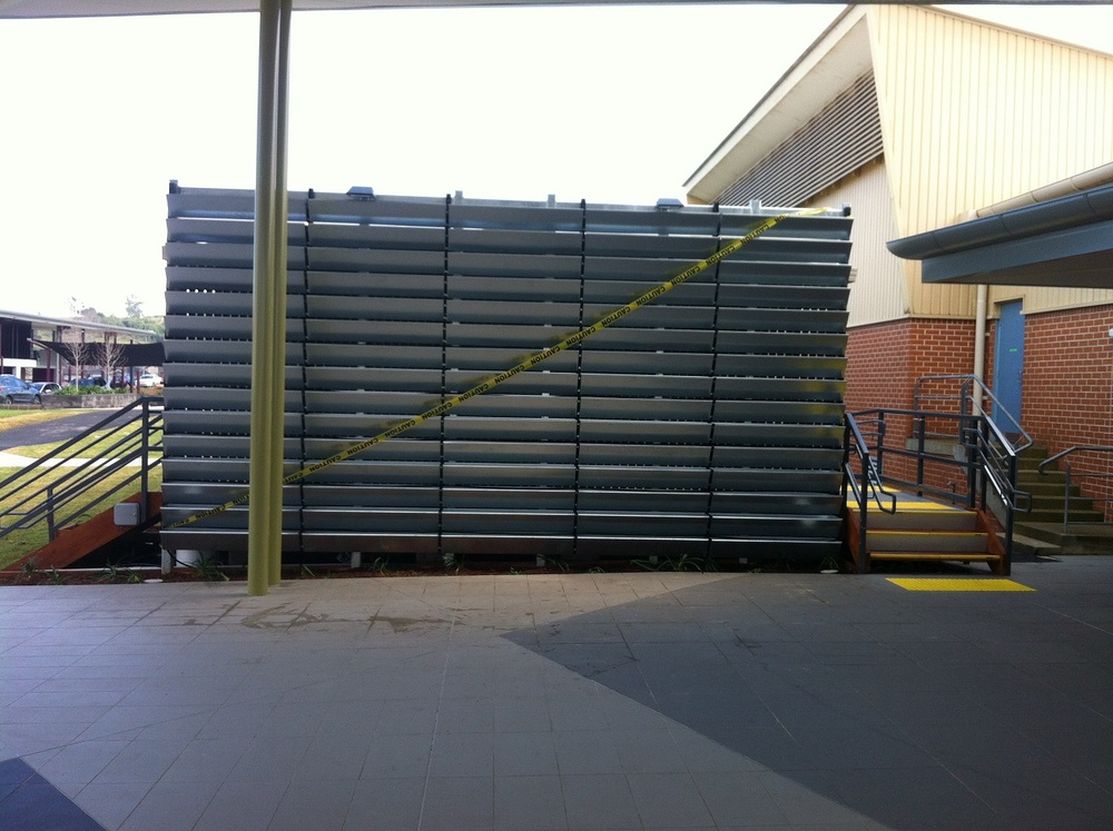 Single sided Greenwall at Thomas Hassall Anglican College