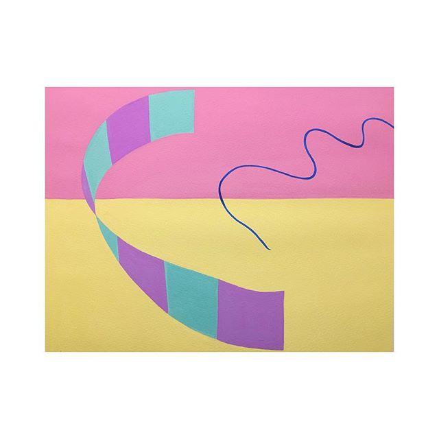 """""""Repulse"""" 2016 Gouache on paper  320mm x 410mm #contemporaryart #abstractarts #hongkong"""