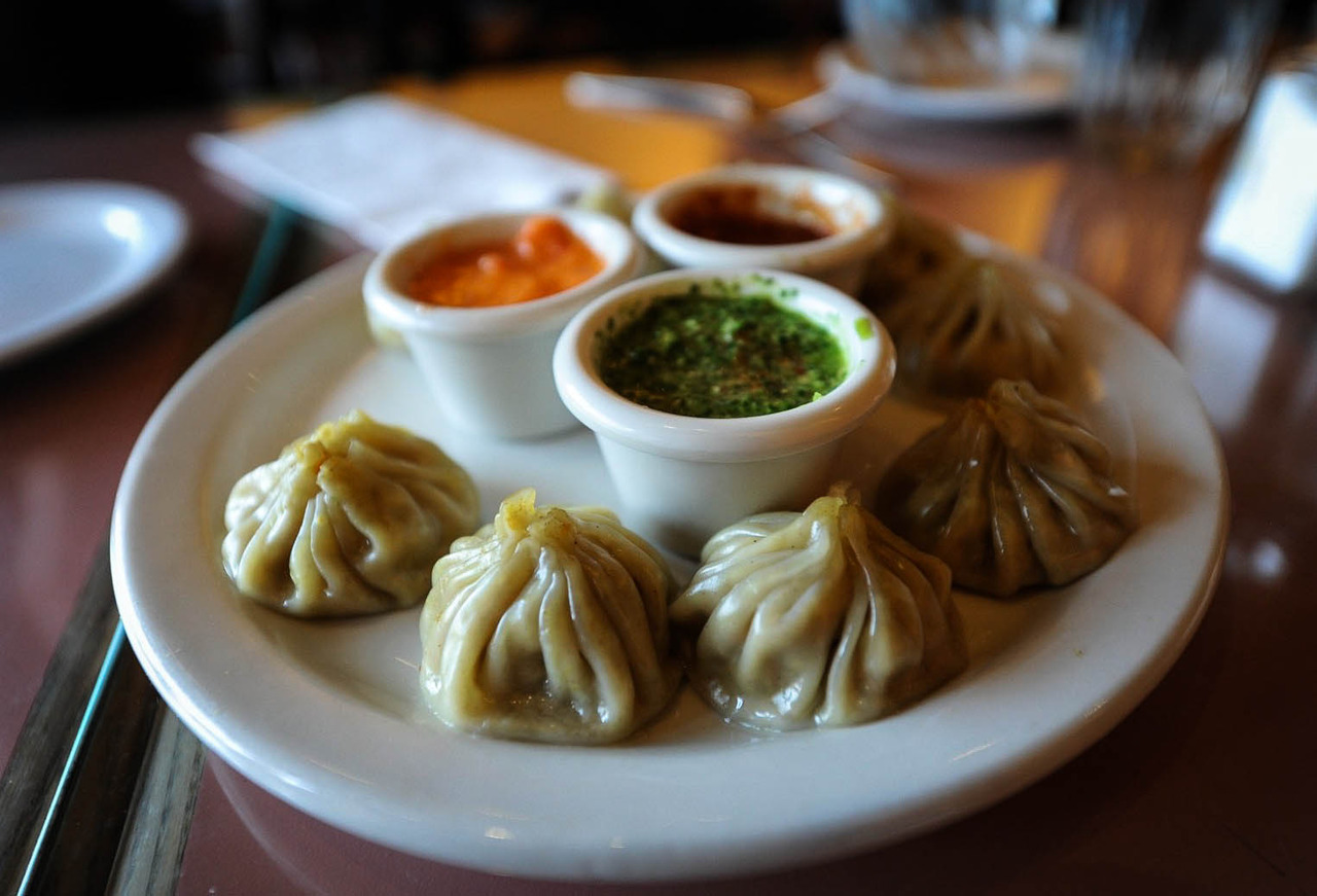 Momos, my favorite thing to eat in Nepal! Momo: A type of dumpling native to Tibet, Nepal.