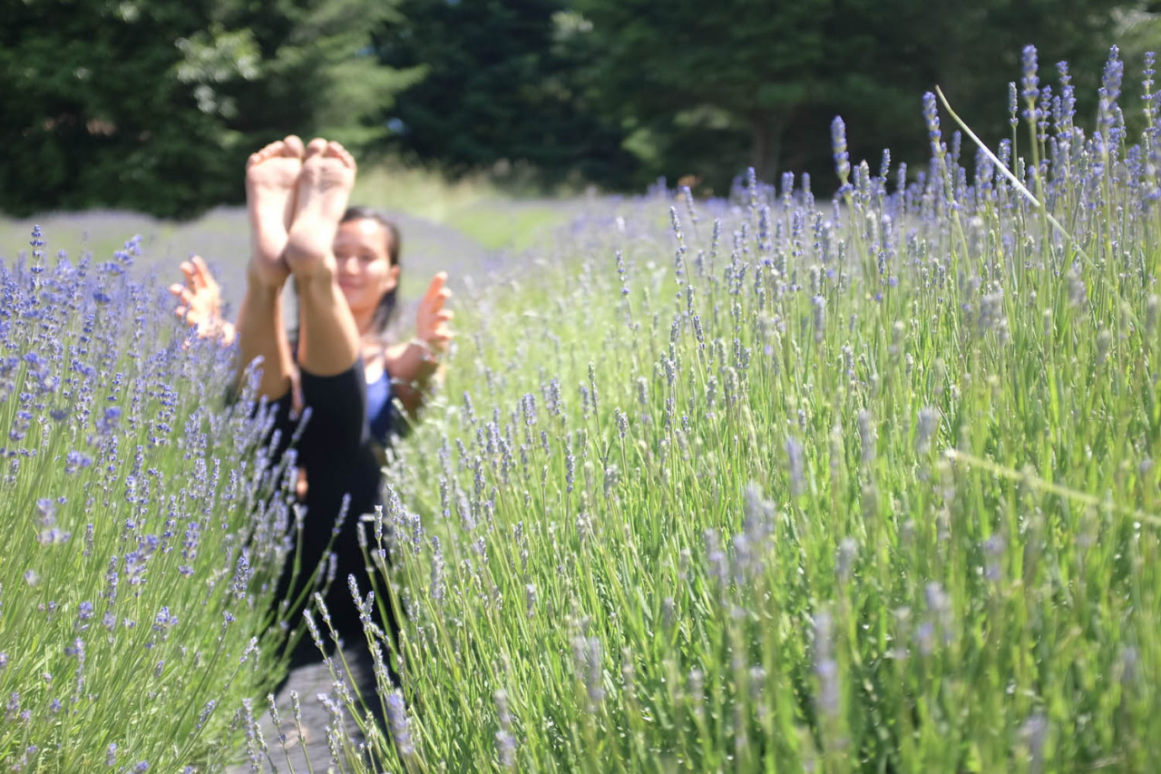 Can't beat practicing in a field of lavender - absolutely heavenly.    http://www.facebook.com/CamilliaLeeYoga