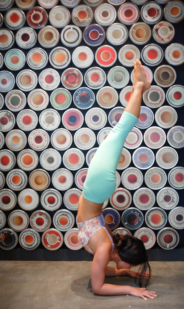 Combining two of my favorite things  Yoga  and  Tea . Love Great Wall Tea Co. selection of tea and how all of it's displayed on the walls!     http://www.facebook.com/CamilliaLeeYoga