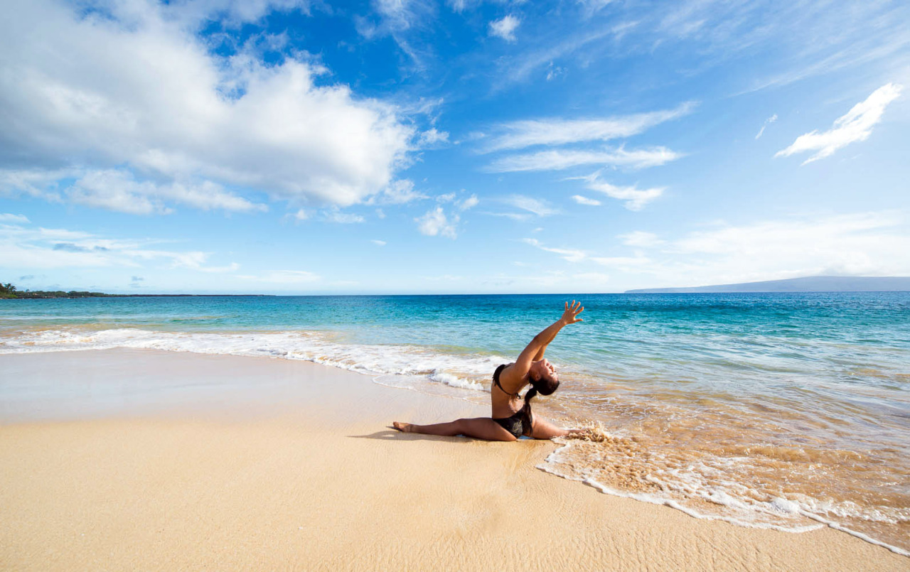 Hanumanasana - Monkey Pose at Big Beach, Maui - Hawaii     http://www.facebook.com/CamilliaLeeYoga