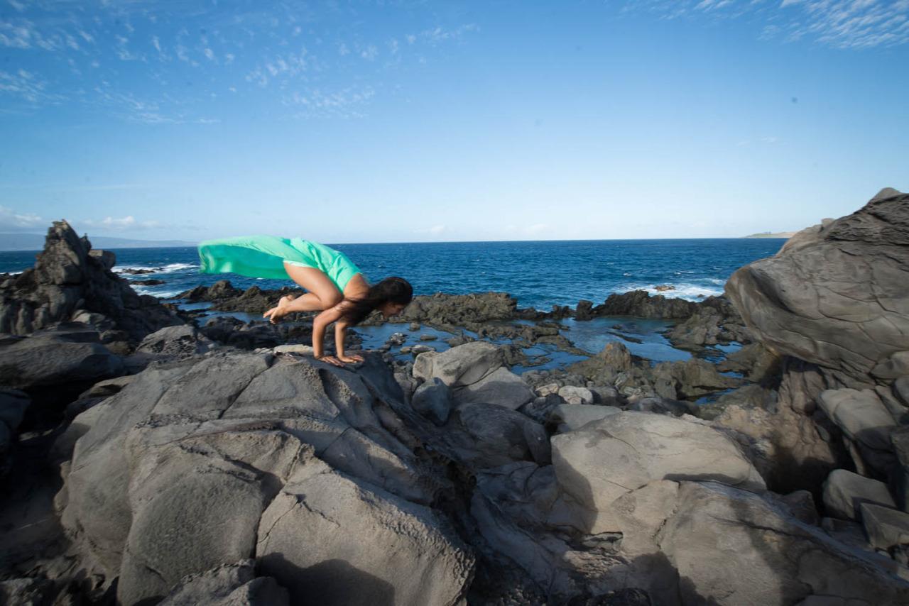 Hawea Point - Maui, Hawaii   Bakasana - Crane Pose