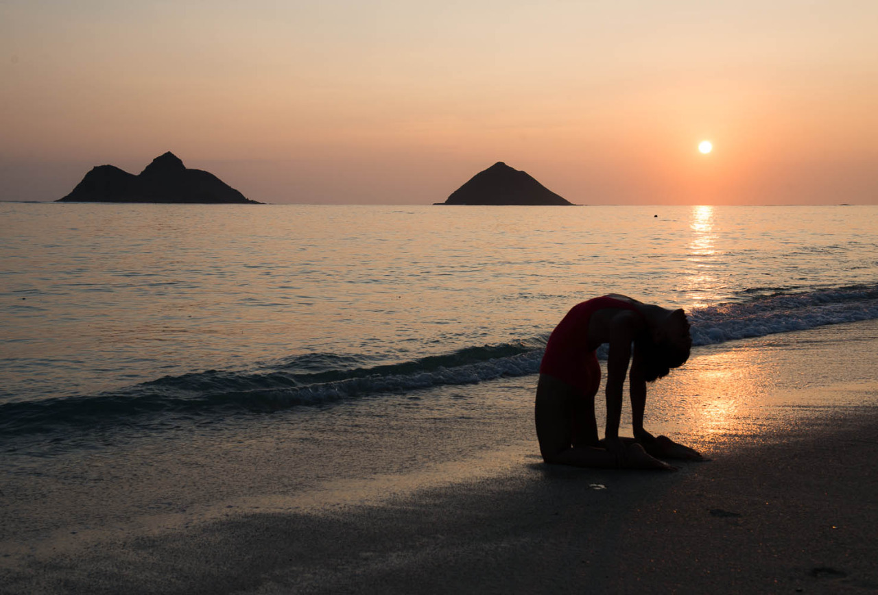 Ustrasana  - Camel Pose  Often Voted one of the top beaches of the world     Lanikai Beach - Kailua, Hawaii     http://www.facebook.com/CamilliaLeeYoga