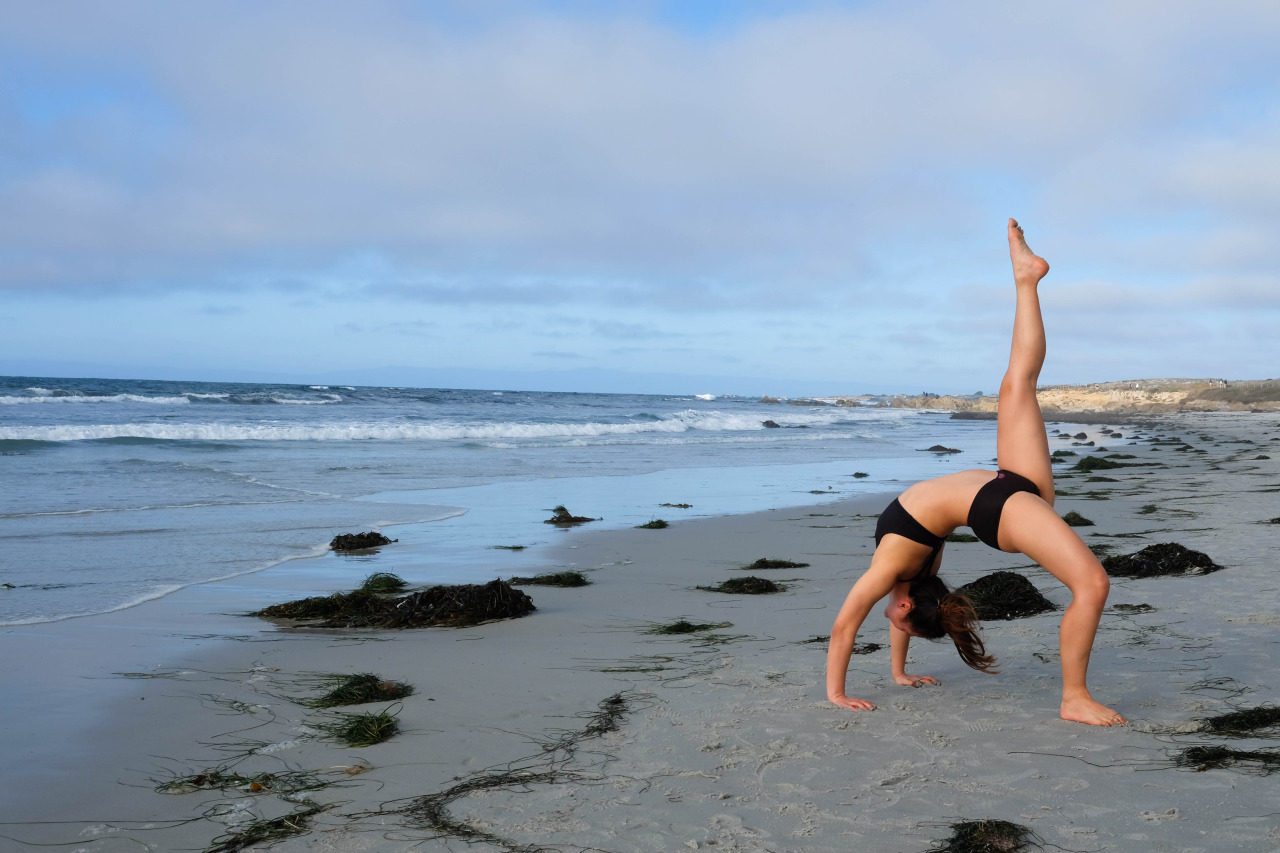 Eka Pada Urdhva Dhanurasana - One Leg lifted Bow pose   Pebble Beach, California