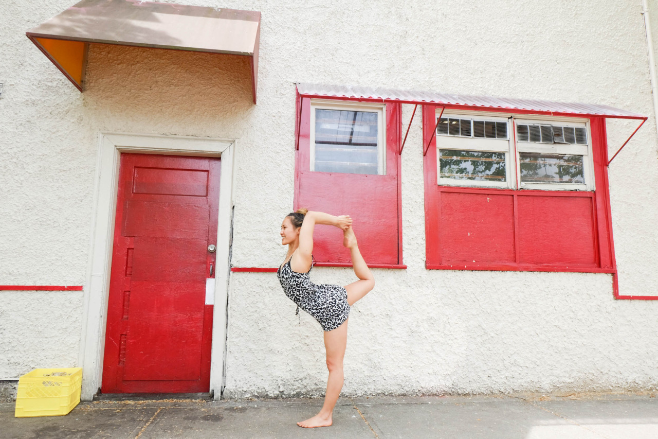 Walk by a beautiful building and strike a pose! Natarajasana - Lord Of The Dance Pose