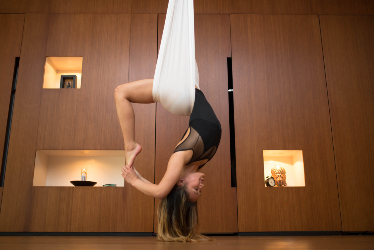 AntiGravity Yoga Chandelier Pose