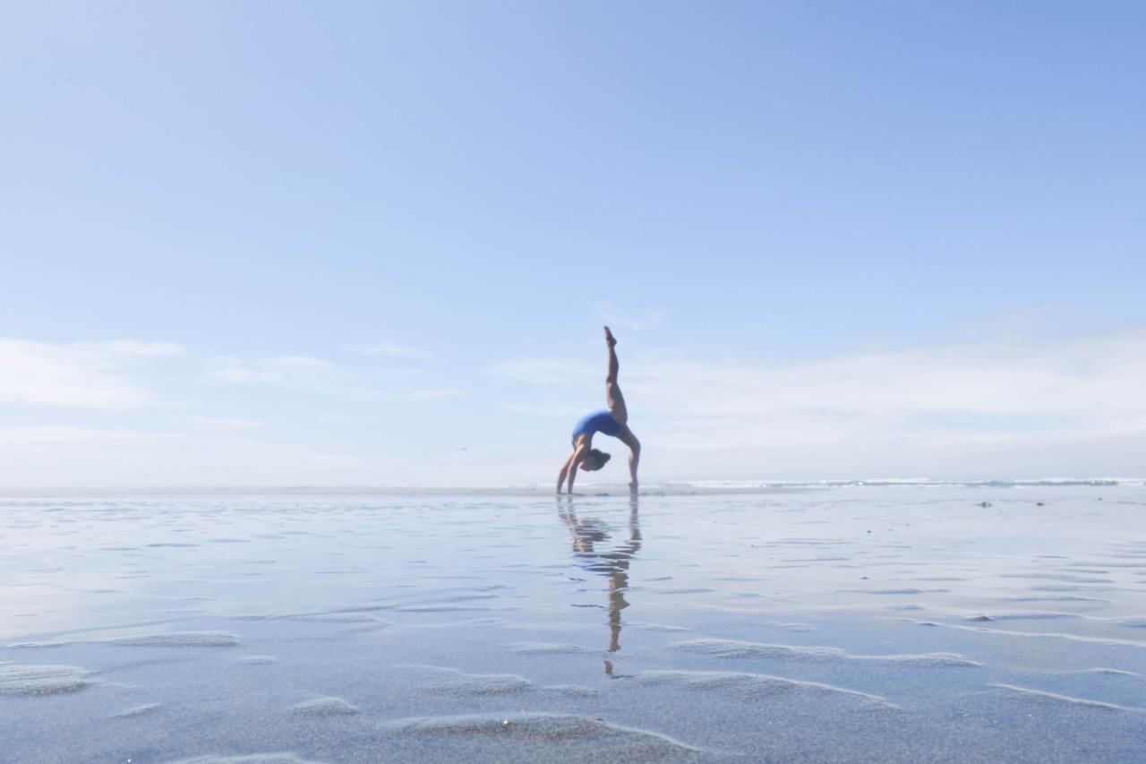 Life's a Beach   Eka Pada Urdhva Dhanurasana - One Legged Wheel Pose   Fort Stevens State Park | Oregon | USA