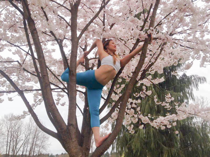 Cherry Blossoms   Natarajasana | Dancer Pose | Yoga Pose  Trout Lake | Burnaby | British Columbia | Canada
