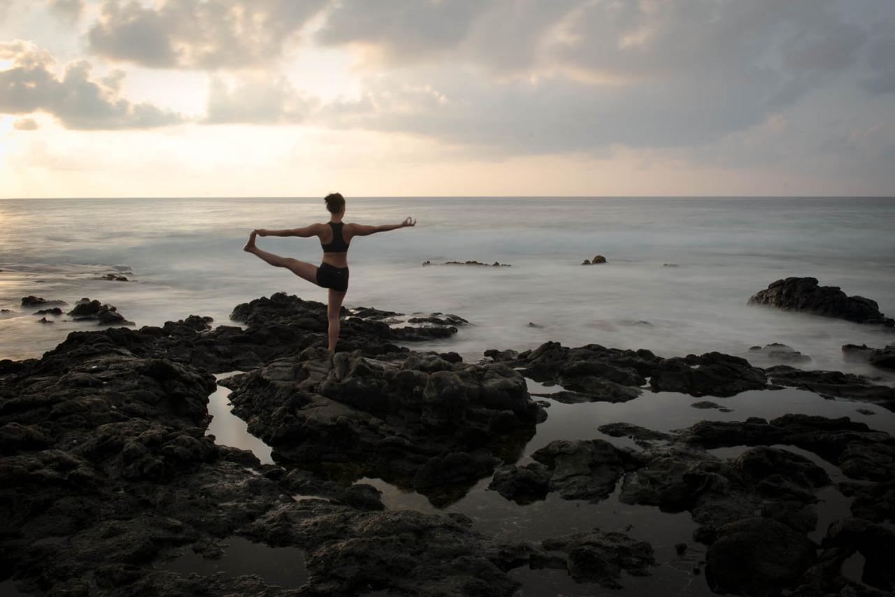 Sunrise  Utthita Hasta Padangustasana |Extended Hand-To-Big-Toe Pose  Sandy Beach Park| Oahu | Hawaii