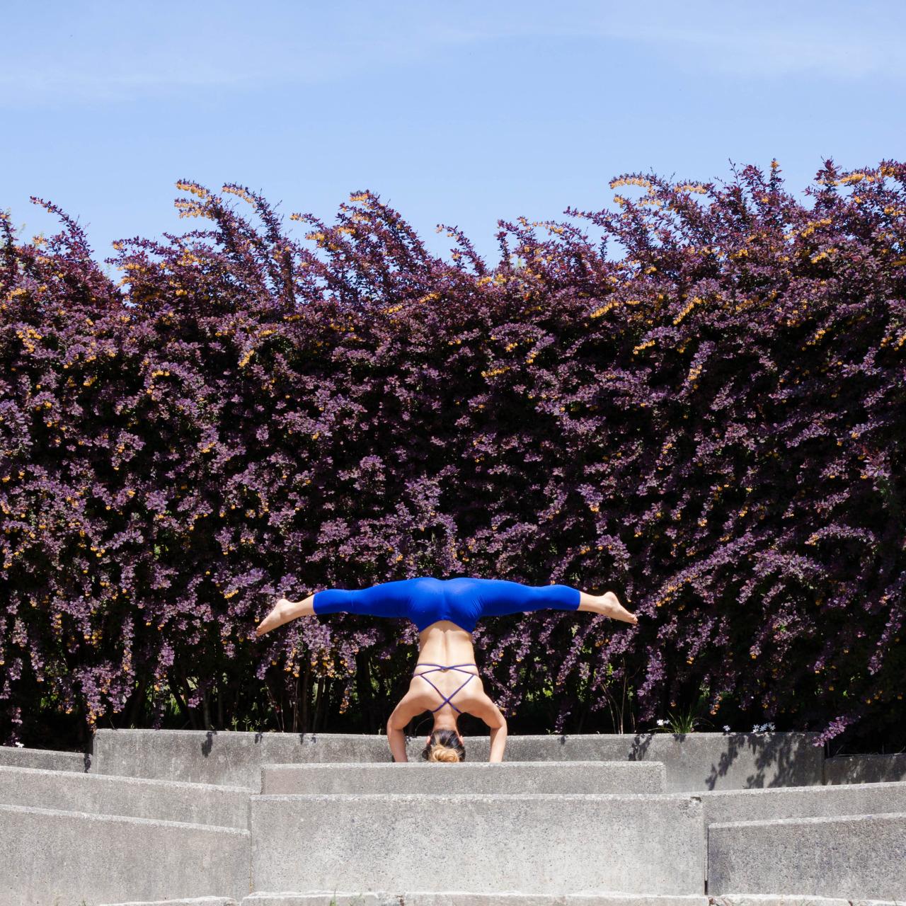 Sirsasana | Headstand | Yoga Pose  VanDusen Botanical Garden | Vancouver | British Columbia | Canada