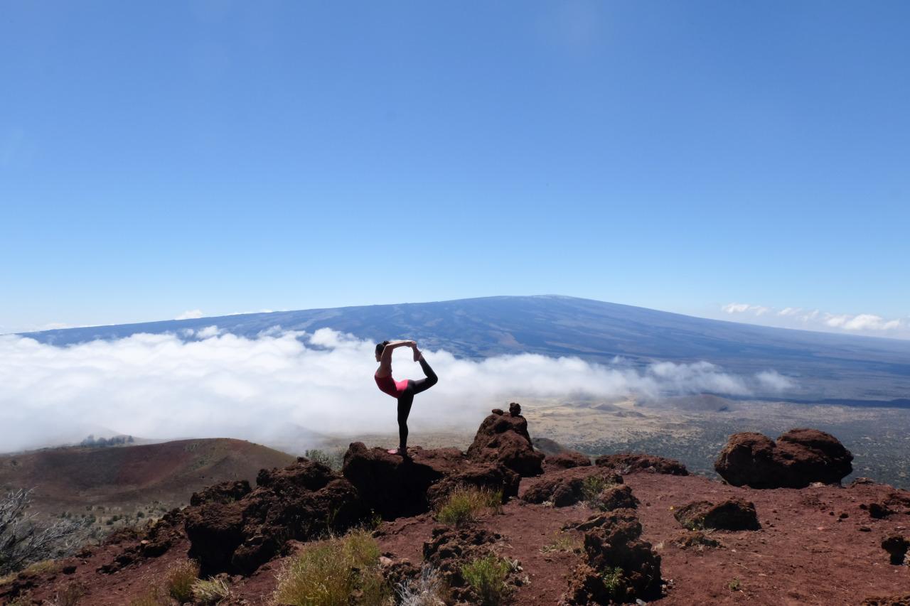 Above the clouds  Natarajasana | Dancer's Pose  Mauna Kea | Hilo | The Big Island | Hawaii