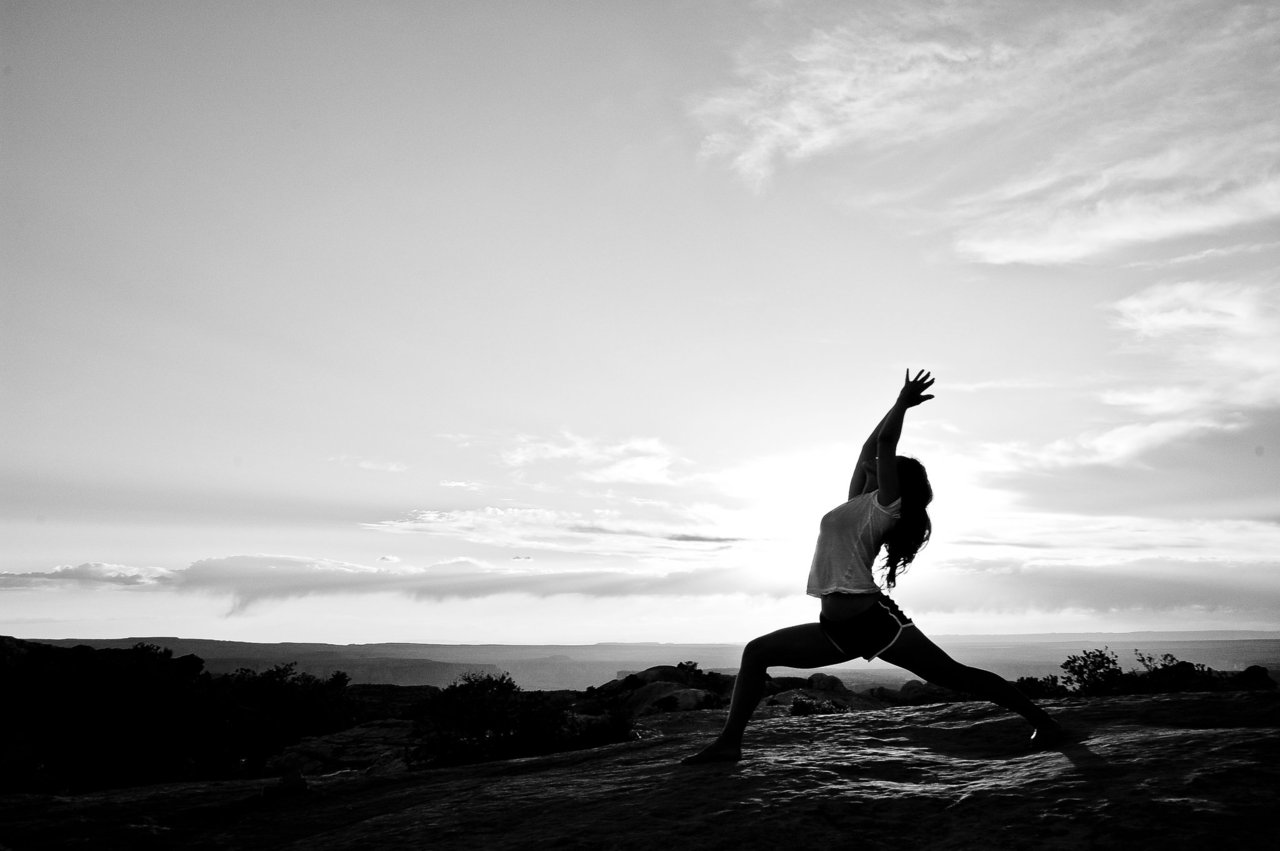 Virabhadrasana I, named after the the warrior-sage, Virabhadra.