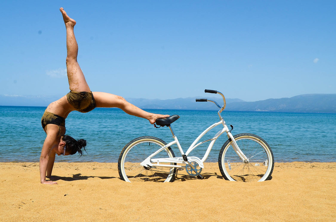 Cruising and Yoga on the Beach - The Perfect Combo!