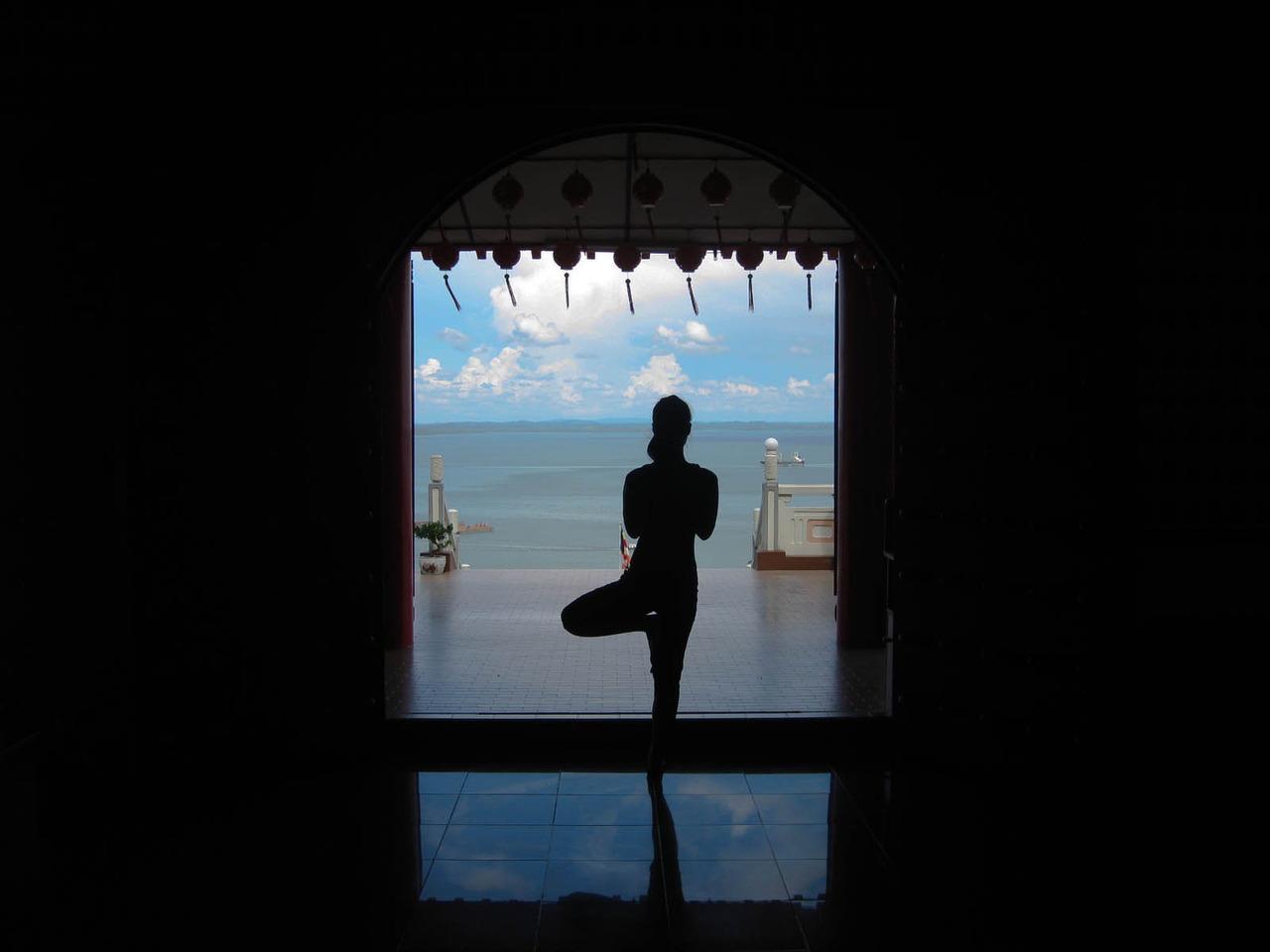Vrksasana overlooking the Sulu Sea   Sandakan, Borneo