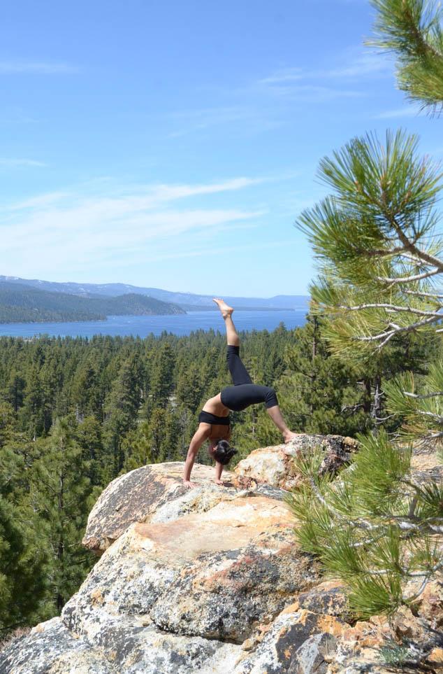 Eka Pada Urdhva Dhanurasana - Lake Tahoe, California