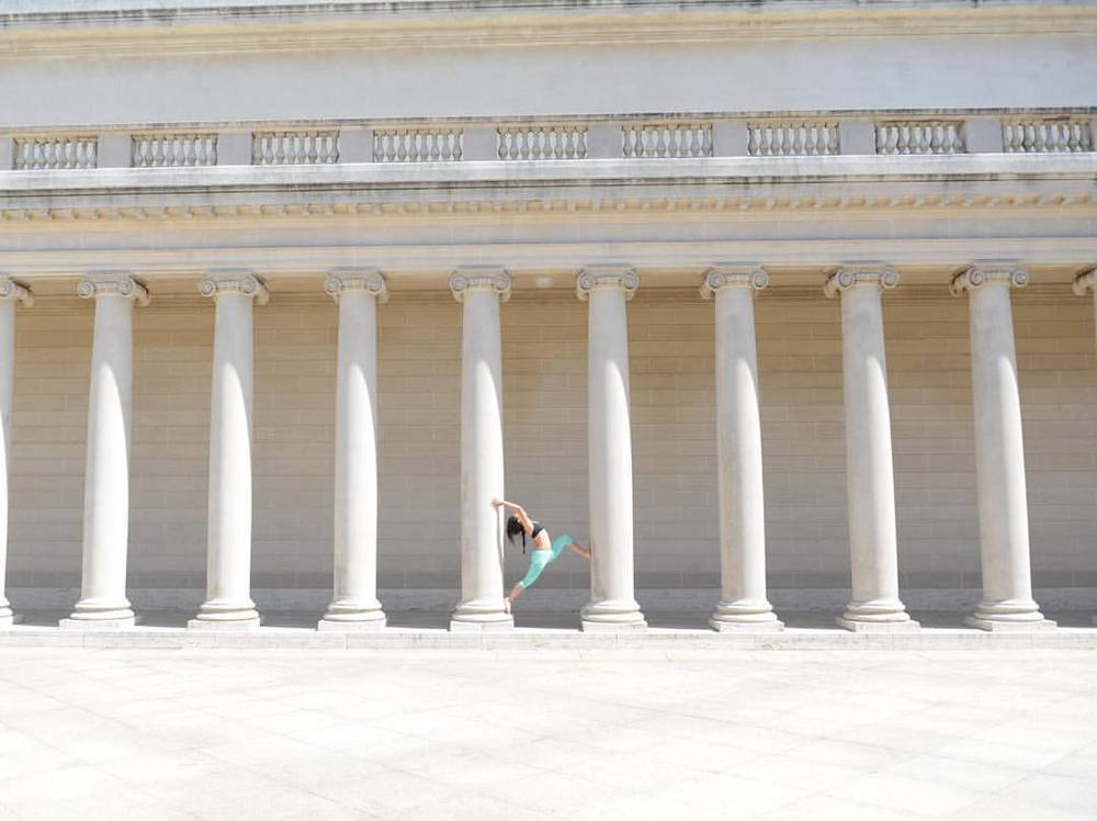 California Palace @legionofhonor #yoga #asana #warriorpose #yogalove #california