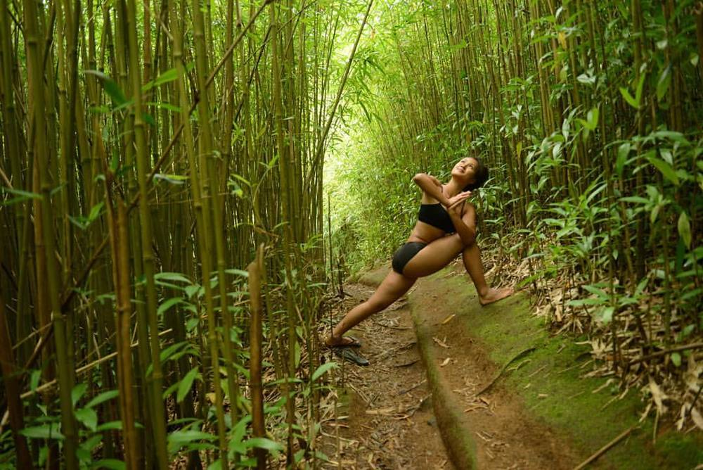 Nature, you amaze me everyday #hawaii #bamboo #forest #yoga #maui