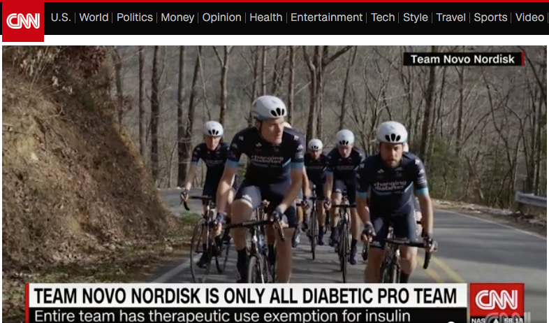 Team Novo Nordisk on CNN - Watch interview with Phil Sutherland founder of Team Novo Nordisk