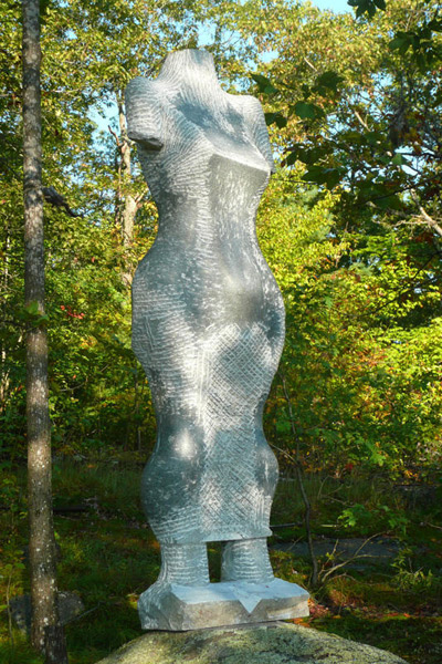 ETRUSCAN MAEAND- MOTHER BEAR c 2011. NH granite, 6'h. x 20%22w. x 12%22d., Andres Institute Sculpture Park, Brookline, NH..jpg