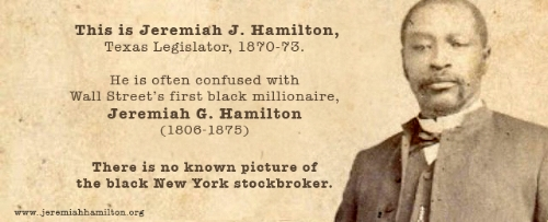 This is NOT Jeremiah G. Hamilton