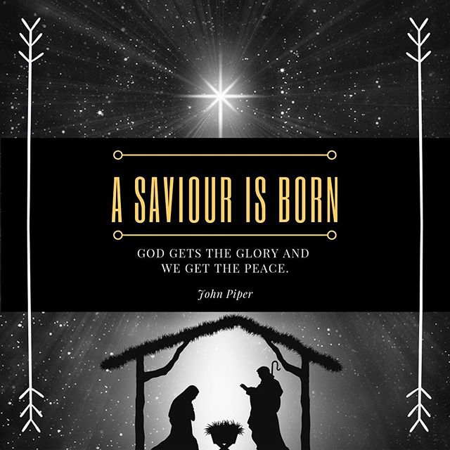 """Luke 2: 11-14  For unto you is born this day in the city of David a Savior, who is Christ the Lord.  And this will be a sign for you: you will find a baby wrapped in swaddling cloths and lying in a manger."""" And suddenly there was with the angel a multitude of the heavenly host praising God and saying, """"Glory to God in the highest, and on earth peace among those with whom he is pleased!"""" John 1:14 And the Word became flesh and dwelt among us, and we have seen his glory, glory as of the only Son from the Father, full of grace and truth.  John 14:27 Peace I leave with you; my peace I give to you. Not as the world gives do I give to you. Let not your hearts be troubled, neither let them be afraid. #advent2018 #secondsundayinadvent"""