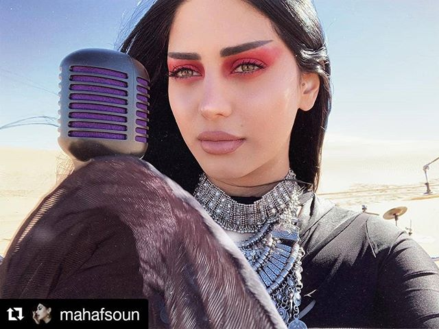 #Repost @mahafsoun ・・・ A little behind the scenes of recording the very first @akheth.official music video in the desert. I slept 3 hours each day for 3 days, stressed like hell for losing my passport and missing 2 flights, got to El Paso feeling defeated, did my makeup in the car... In the end it all worked out, all thanks to my amazing AKHETH family for taking care of me and working hard on this project.