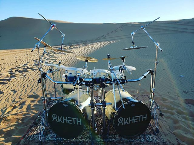 The mighty drum set of our first official video played by @alexandro_molina
