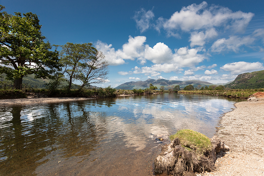 A summers day in Grange looking towards Skiddaw.jpg