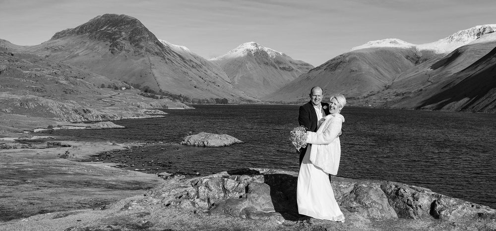 Pam and Rob on their happy day. Is there a better setting for a landscape wedding?