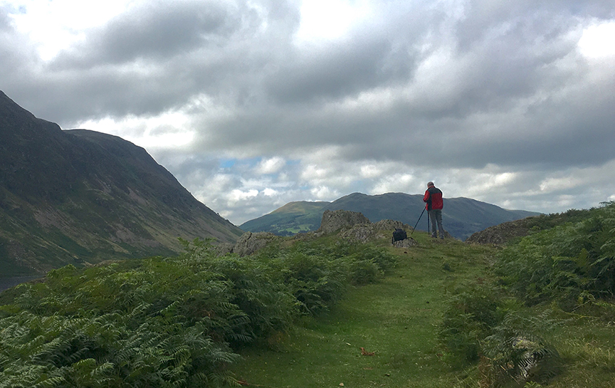 Chris on his workshop above Crummock Water
