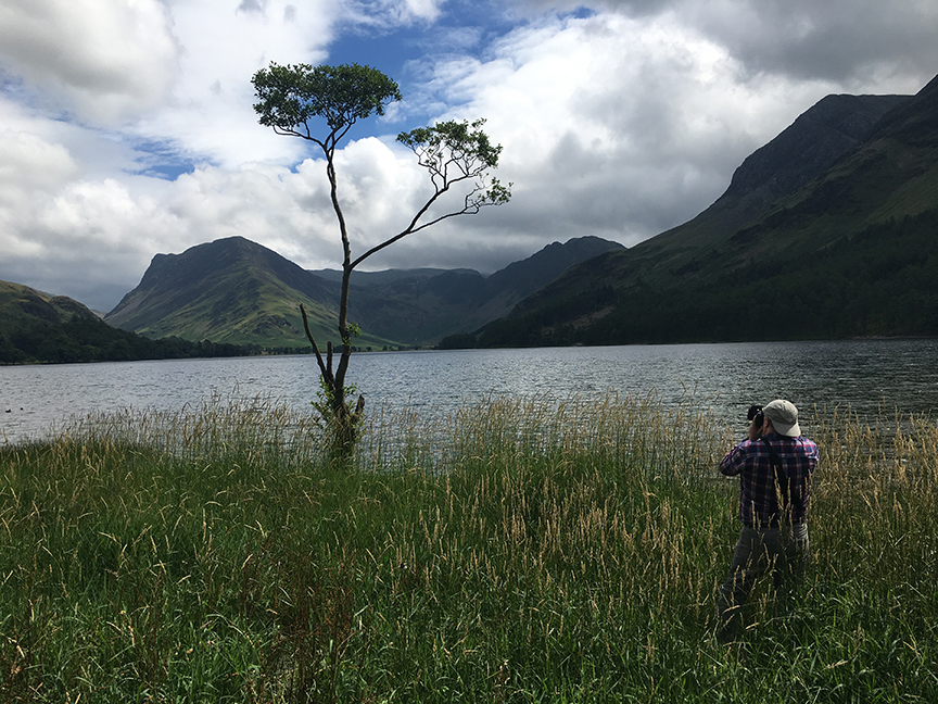 Chris and 'that tree' at Buttermere.