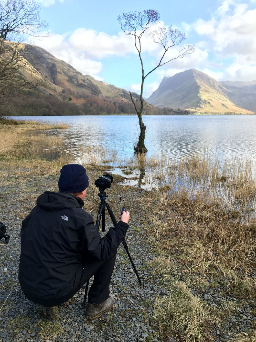 Andy by 'That Tree' at Buttermere.
