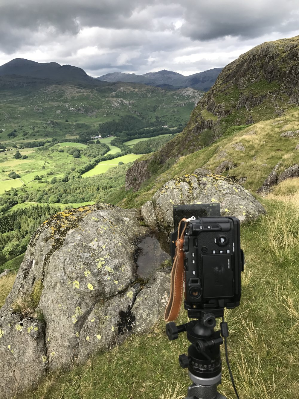The X Pro 2 on Hartley Crag above Eskdale. Lovely!