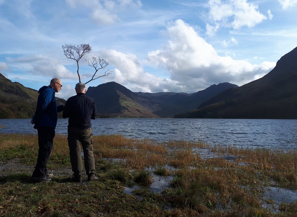 Bob on his workshop 'staggered' by the beauty of Buttermere...Any captions then please send them in. Photo by kind permission of Vicki Proctor