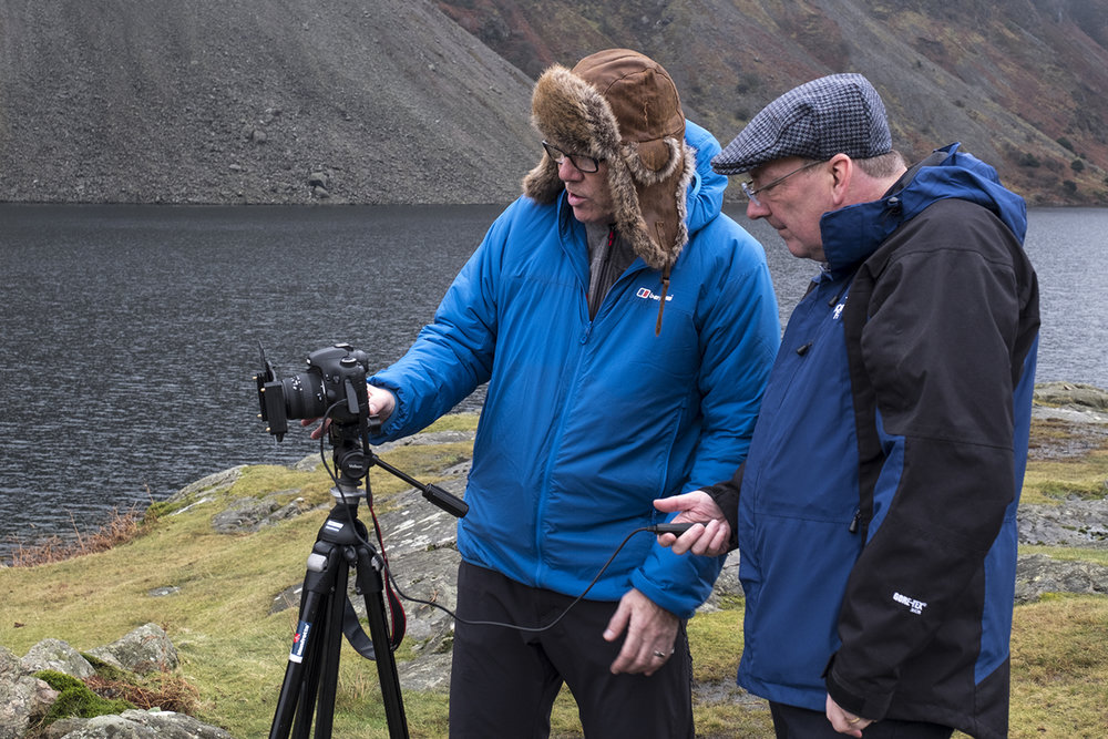 With Tim by Wast Water introducing him to the Lee Filters system. Image by kind permission of Vicki Proctor