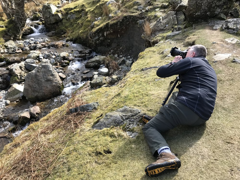 ......snapping a waterfall at Rannerdale....
