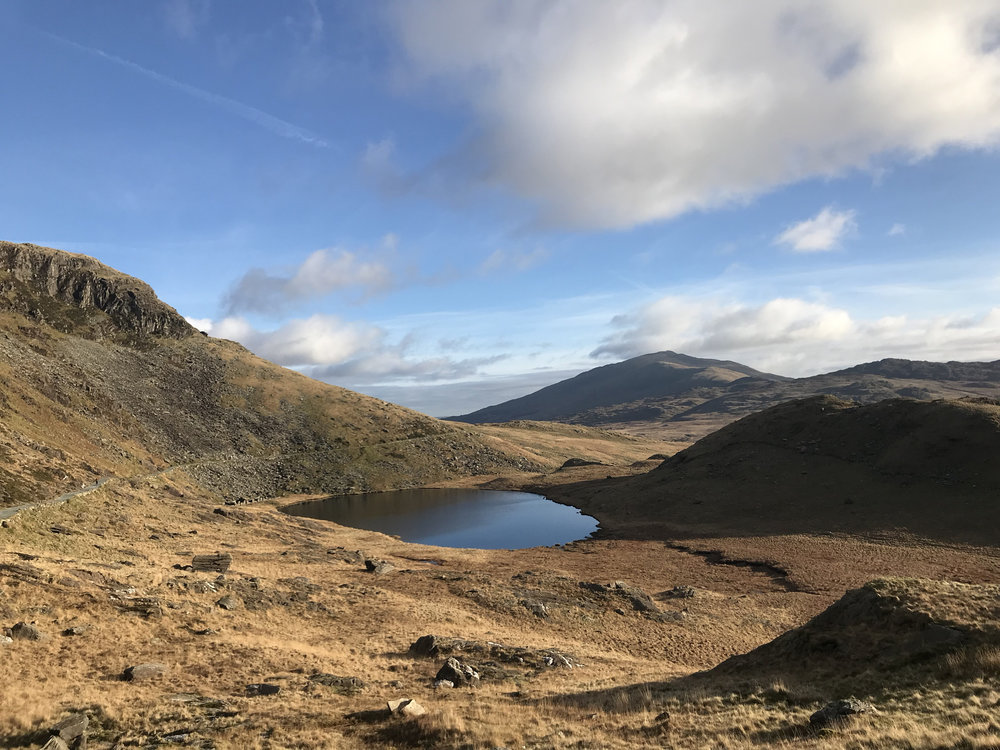 The view from the Miners track over towards Moel Siabod