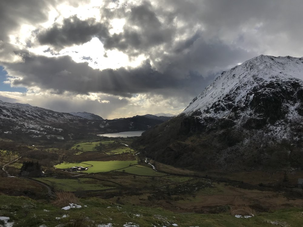 One from the iPhone looking towards Beddgelert