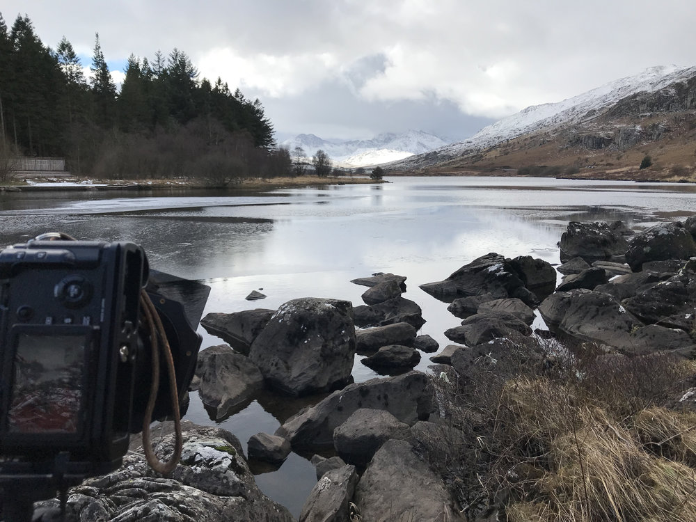 Taking snaps from Plas y Brenin