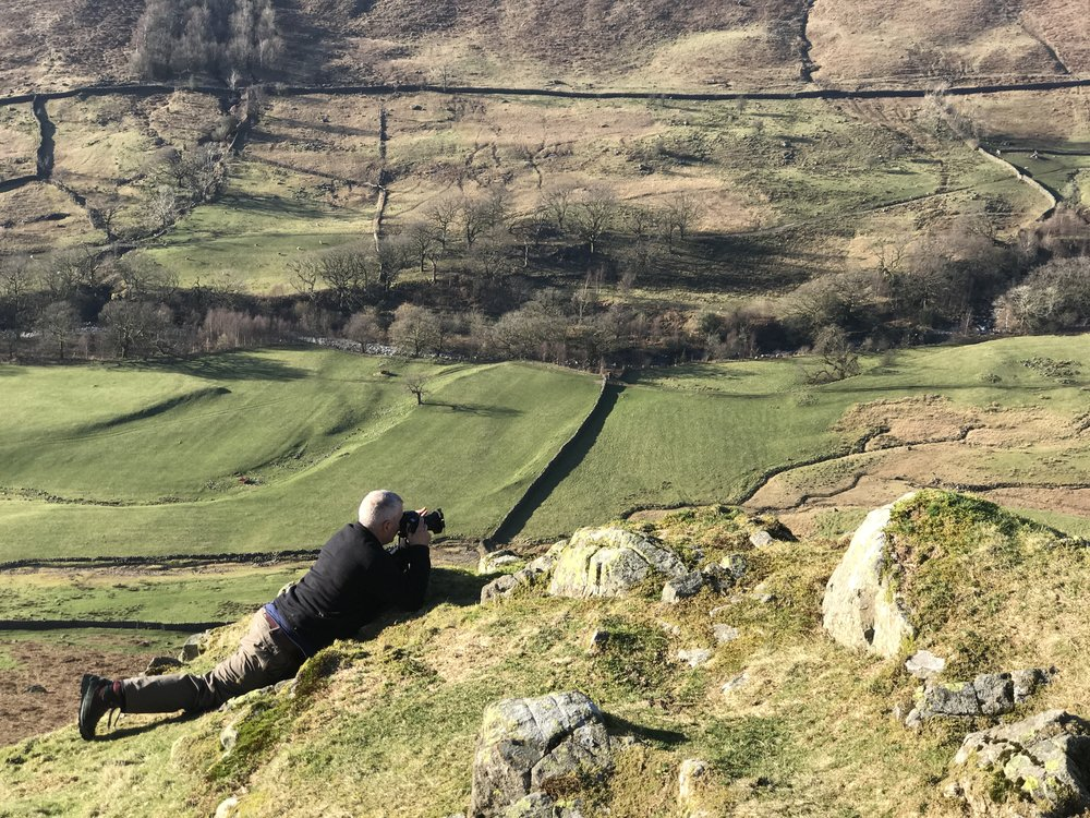 Once a soldier….Tim above the Esk