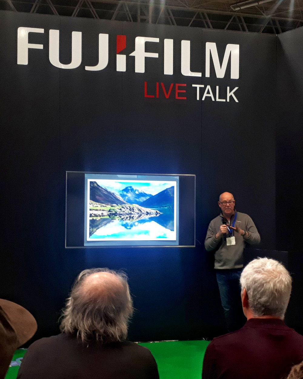 The final talk. Yes I did wear the same  BERGHAUS  fleece and clothes two days running!! Photo by Vicki off her phone.